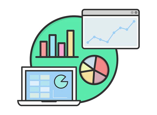 Kleine Grafik - Zusammenstellung verschiedener Diagramme zur Übersicht bei der Suchmaschinenoptimierung