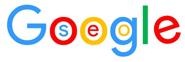 Google logo mit SEO